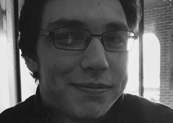 Black-and-white close-up of Noah Hubbard, interviewed in the story